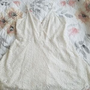 Mossimo (Target) White Lace Mini Dress